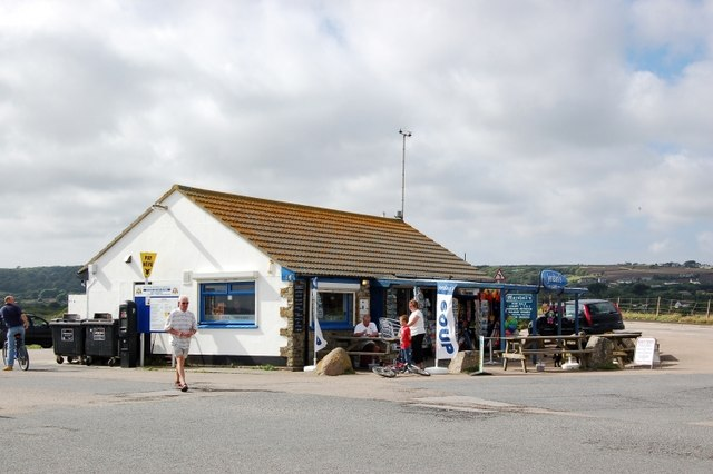 Jordan's Cafe, Long Rock, near Penzance, Cornwall.