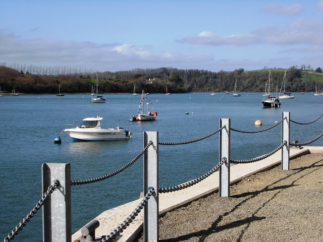 View up River Dart  from Greenway Quay