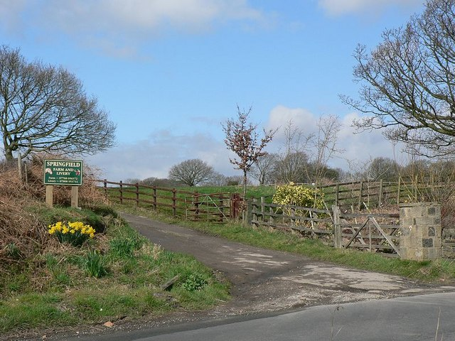 Entrance to Springfield Farm and Livery Stable