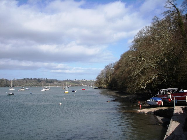 View back to Galmpton Creek from Greenway Quay