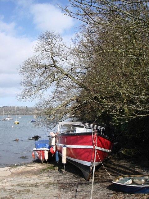 Boat at  Greenway Quay
