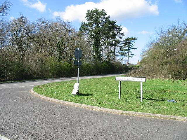 Junction of Hicks Forstal Road with Canterbury Road