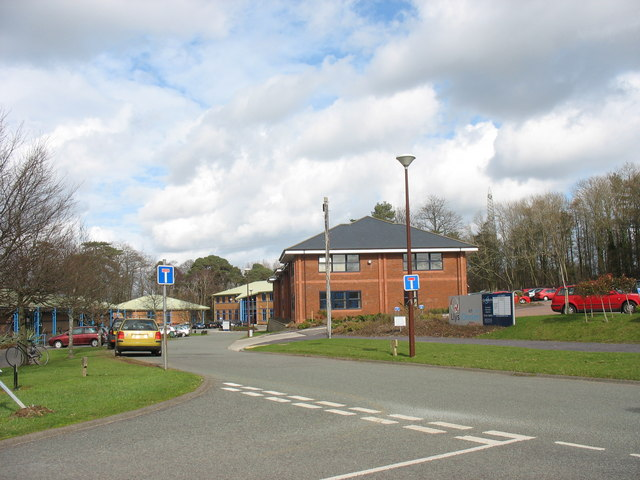 Office buildings at Llys Onnen, Ffordd y Llyn, Parc Menai