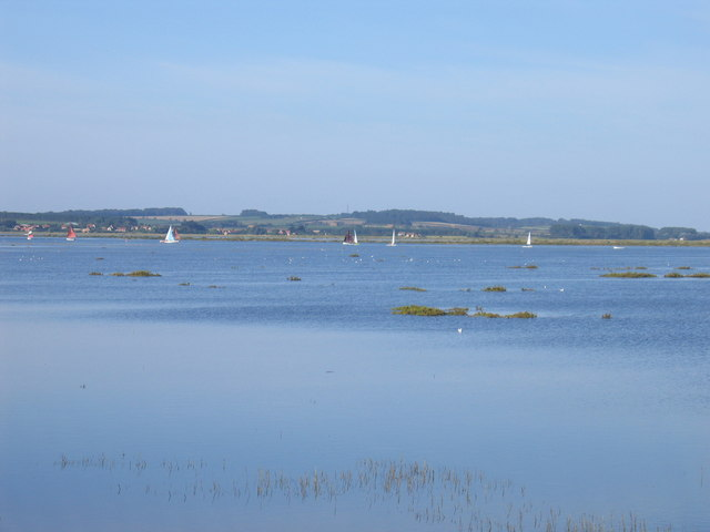 Overy Marsh submerged by autumn high tide