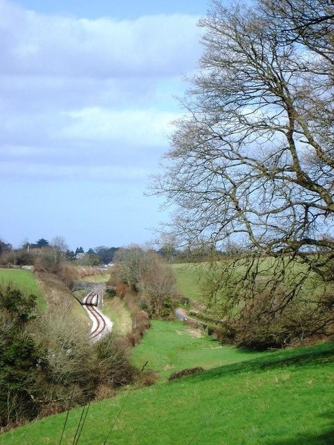 Railway track and Bridge, Hook Bottom, Greenway Road