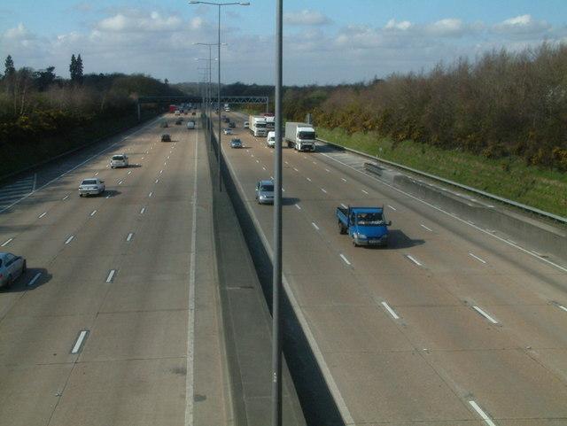 M25 Motorway at Walton Heath