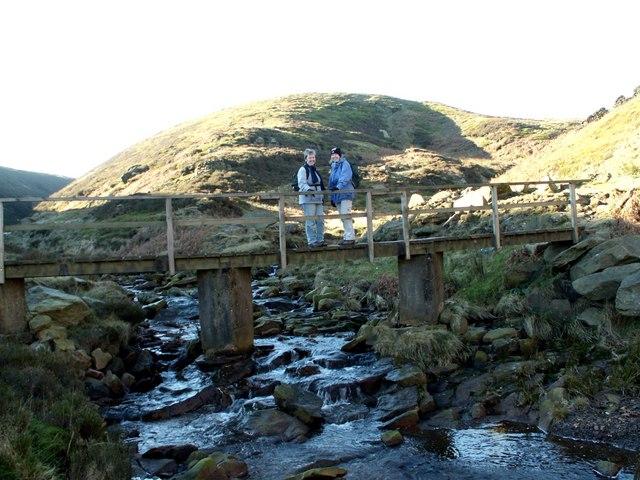 Footbridge over Marsden Clough