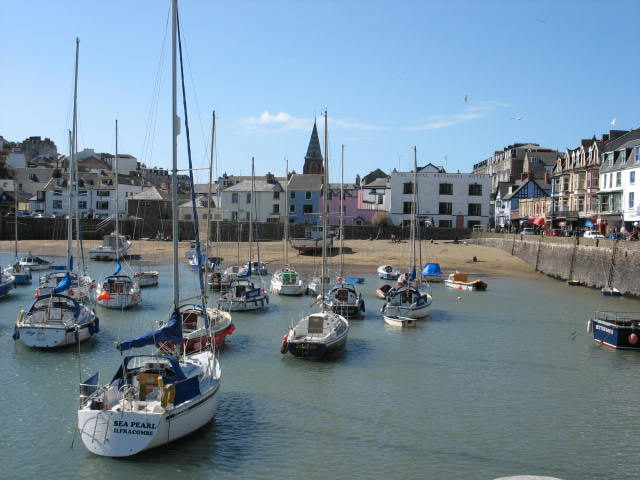 Inner Harbour and beach Ilfracombe