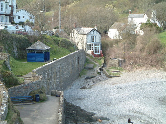 Small  beach  Main street Combe Martin