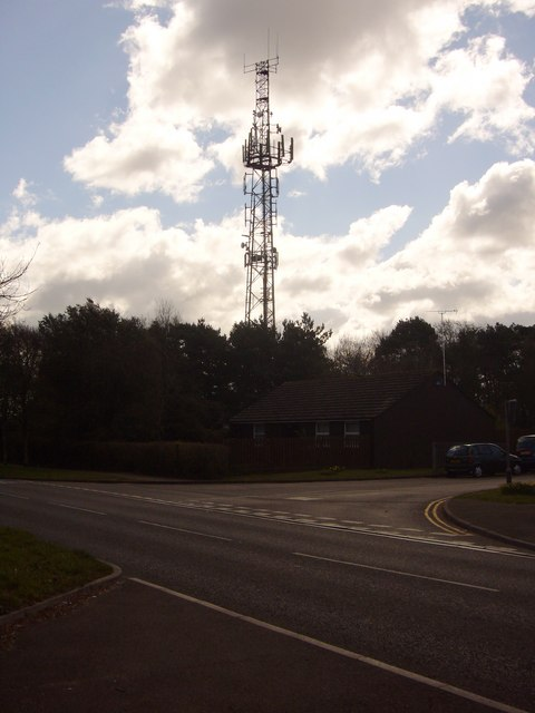 Mobile Phone Mast, Corfe Hills School.