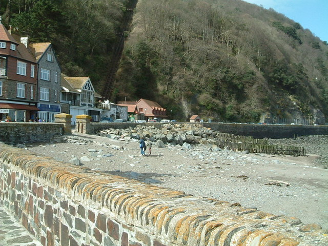 Outside the harbour at low tide  Lynmouth