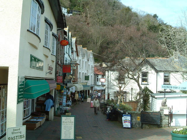 Pedestrian only  street Lynmouth