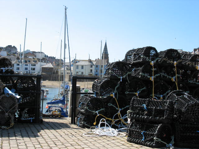 Crab and Lobster pots Ilfracombe Harbour