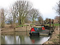 SE7042 : Narrowboat at Cottingwith Lock by Gordon Hatton