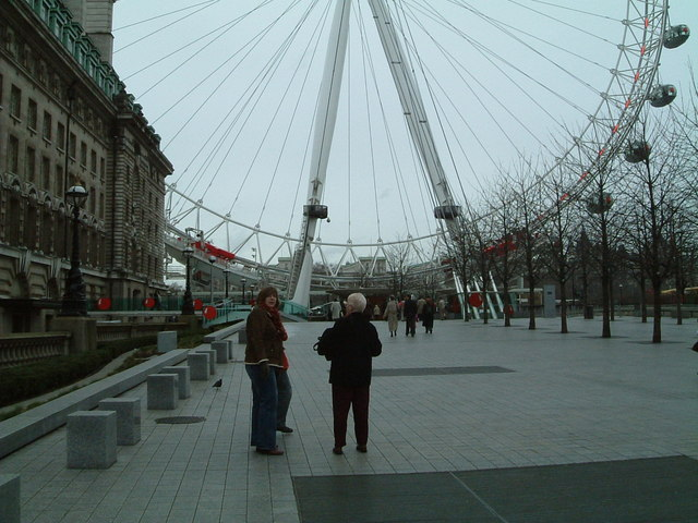 Walking up to the London Eye