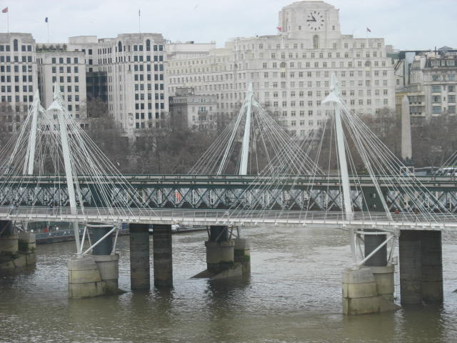 The Jubilee Bridge from the London Eye