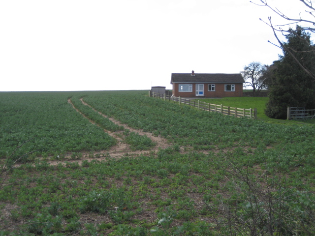 Bungalow and field