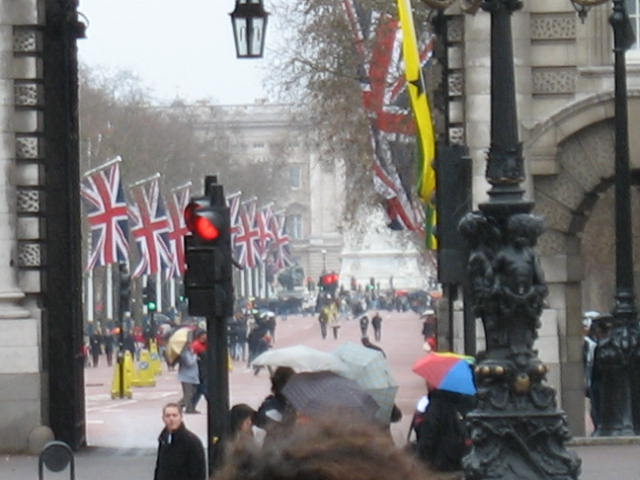 Looking down the Mall to Buckingham Palace