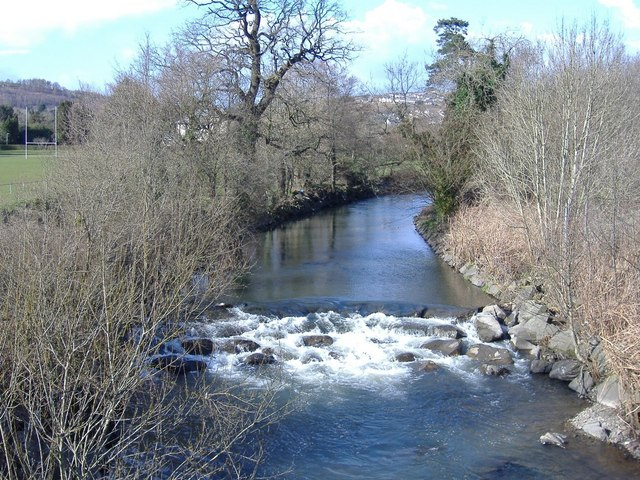 The River Rhymney, at Ystrad Mynach