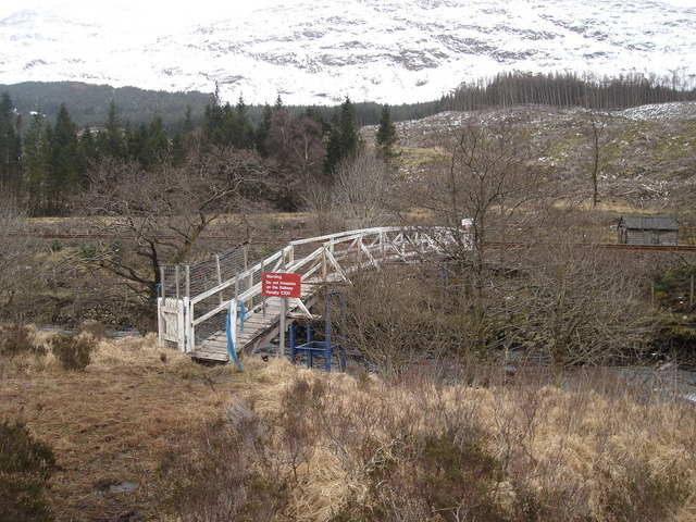 Footbridge over the River Lochy