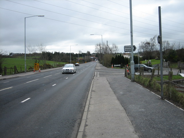 Old Saintfield Road joins the A24 Downpatrick road.