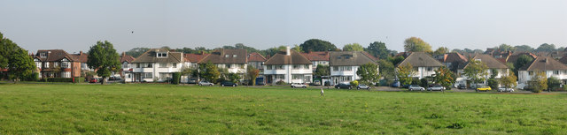 Houses on Cannon Hill Lane overlooking Cannon Hill Common