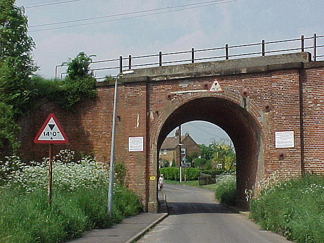 Witham, railway bridge in Blunts Hall Road