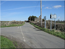 SS9371 : Llan Road Junction, Near Wick, Vale of Glamorgan. by Peter Wasp