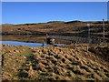 SN7185 : Dam and jetty of Llyn Craigypistyll by Rudi Winter