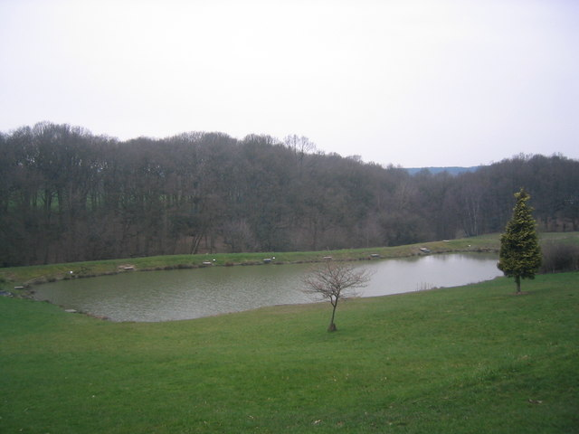 stocked trout fishing pond in far forest o o 39 brien