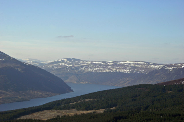 Looking down on Loch Glass