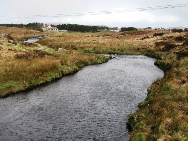 Upstream from Annie Brady Bridge, Mayo