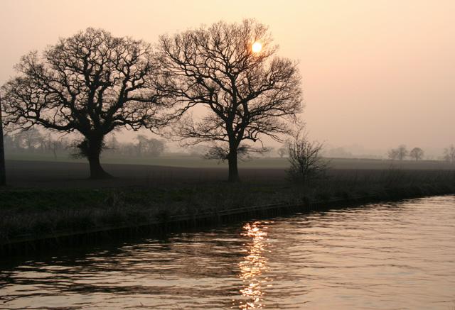 Sunset on the Shropshire Union