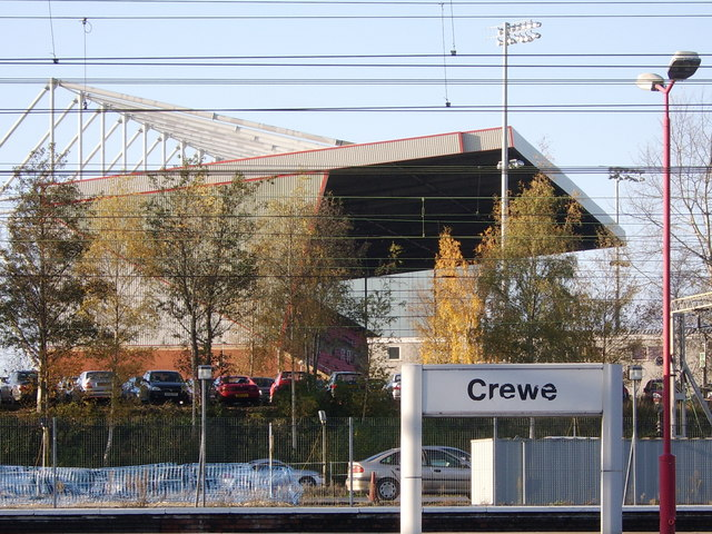 Crewe Alexandra Football Club's main stand