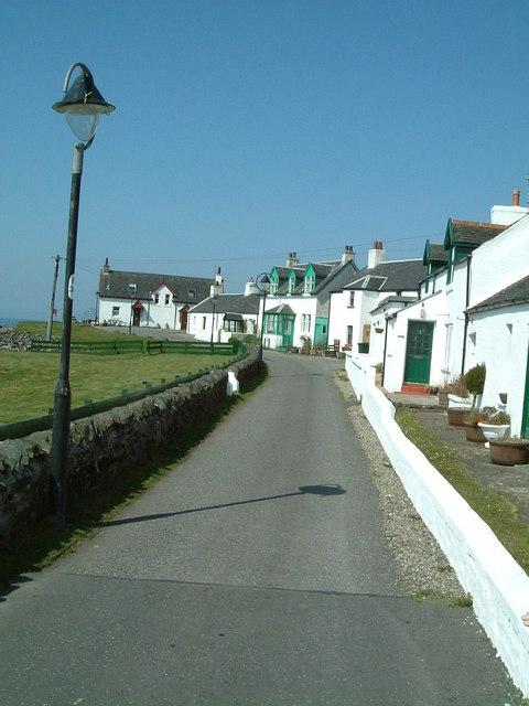 Row Of White Cottages  Ellenabeich