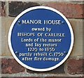 Photo of Manor House, Horncastle blue plaque
