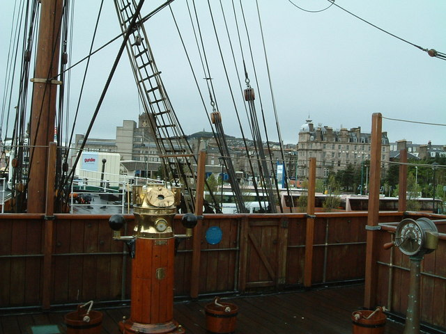 Deck of RRS Discovery