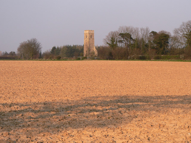 All Saints over farmland
