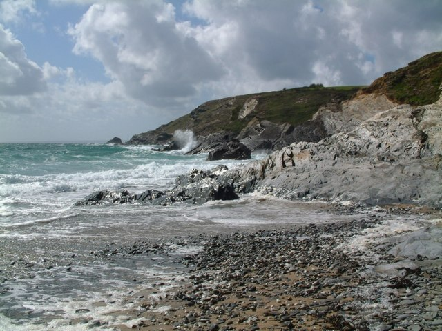 Coastline at Gunwalloe Church Cove