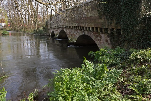 Shady side of the bridge, River Avon, Ringwood