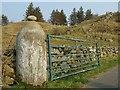 NM7615 : Gatepost near Ballachuan Loch by Eileen Henderson