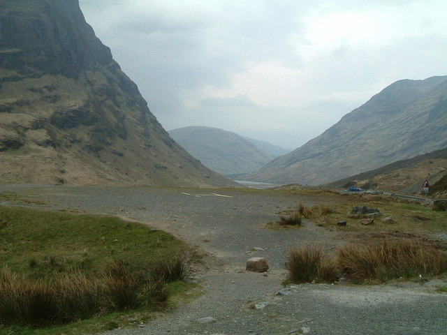 Looking through the Pass of Glencoe