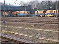 TL1898 : Railtrack maintenance equipment in Peterborough by Stanley Howe
