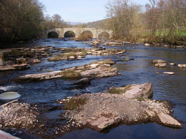 Llangynidr Bridge in spring