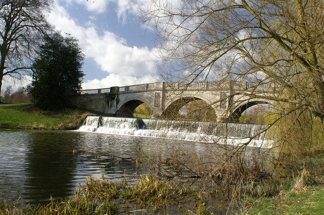 Palladian bridge at Brocket Hall