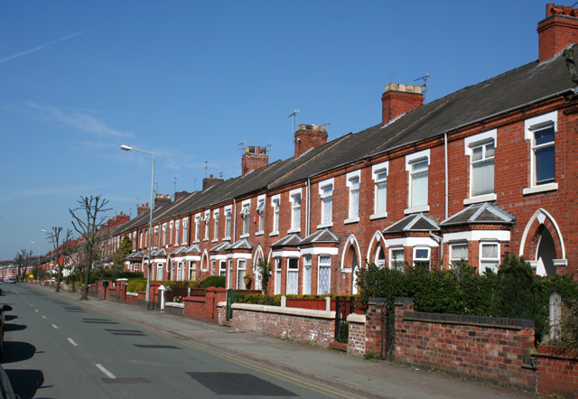 Terraced houses, Ruskin Road, Crewe:: OS grid SJ7054 :: Geograph ...