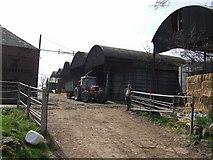 SJ8216 : Barns at High Onn Farm by John M