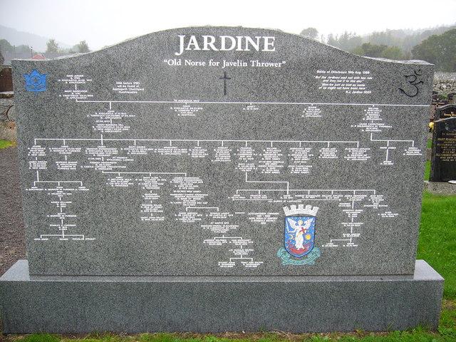 Headstone in Sweetheart Abbey