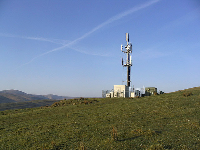 Radio Mast on Watch Knowe