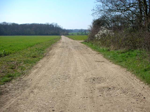 The Three Shires Way leaves Podington Airfield